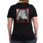 Lysander Spooner Women's V-Neck Dark T-Shirt