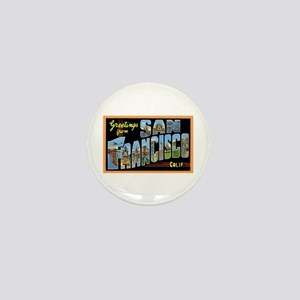 San Francisco California Greetings Mini Button