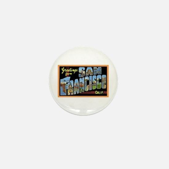 San Francisco California Greetings Mini Button