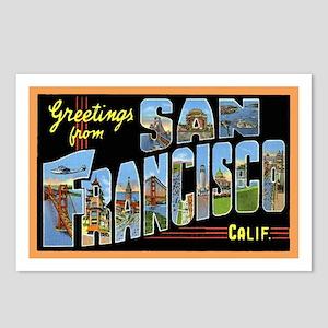 San Francisco California Greetings Postcards (Pack