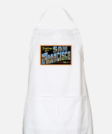 San Francisco California Greetings BBQ Apron