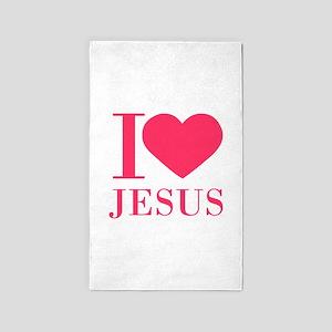 I love Jesus - bo 3'x5' Area Rug