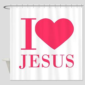 I love Jesus - bo Shower Curtain