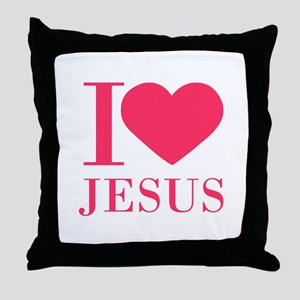 I love Jesus - bo Throw Pillow