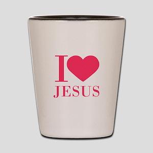 I love Jesus - bo Shot Glass
