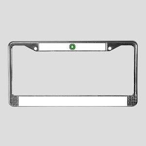 Green License Plate Frame