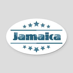 Jamaica Oval Car Magnet