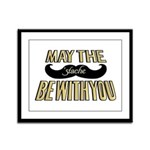 May the stache be with you Framed Panel Print
