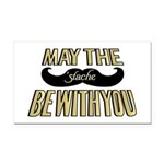 May the stache be with you Rectangle Car Magnet
