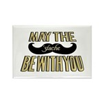 May the stache be with you Rectangle Magnet (100 p