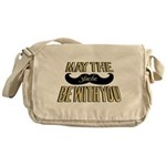 May the stache be with you Messenger Bag