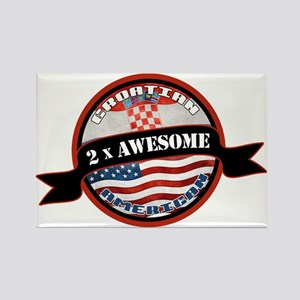 Croatian American 2x Awesome Rectangle Magnet