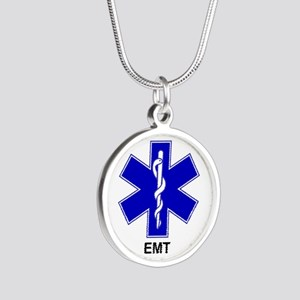 Blue Star of Life - EMT Silver Round Necklace