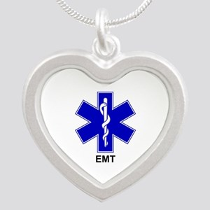 Blue Star of Life - EMT Silver Heart Necklace