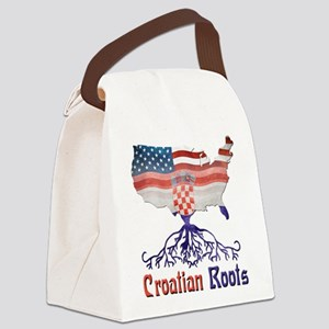 American Croatian Roots Canvas Lunch Bag
