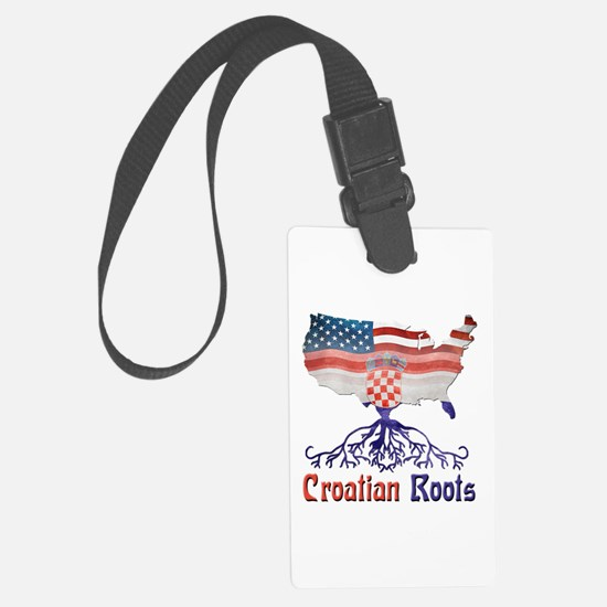 American Croatian Roots Luggage Tag