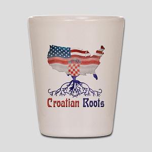 American Croatian Roots Shot Glass