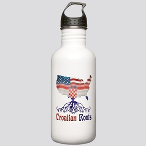 American Croatian Roots Water Bottle