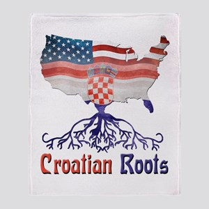 American Croatian Roots Throw Blanket