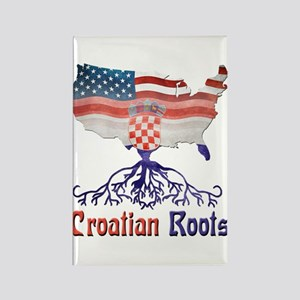 American Croatian Roots Rectangle Magnet