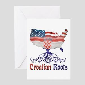 American Croatian Roots Greeting Card