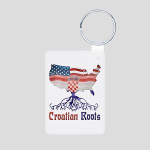 American Croatian Roots Keychains