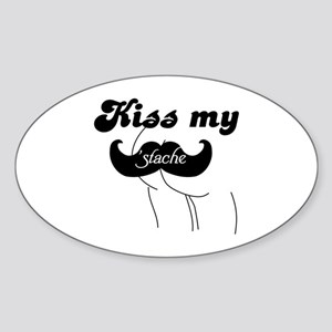 Kiss my stache Sticker