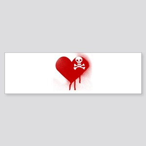 Anti Valentines Day Emo Heart Bumper Sticker