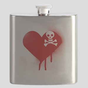Anti Valentines Day Emo Heart Flask