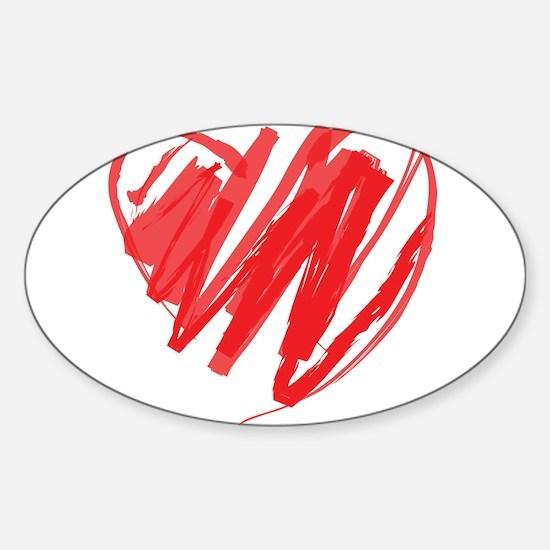 Crayon Heart Decal