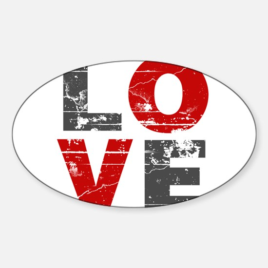 Distressed Love Sign Decal