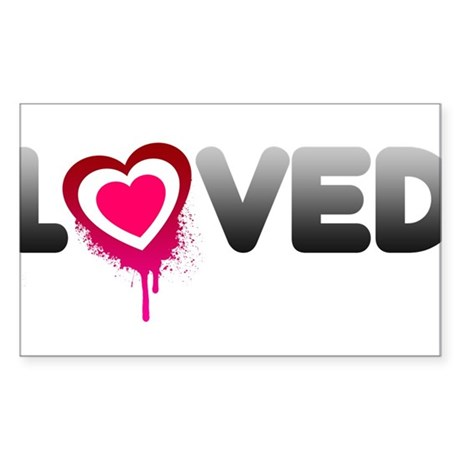 Loved Heart Splatter Sticker