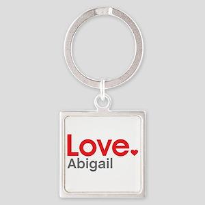 Love Abigail Square Keychain