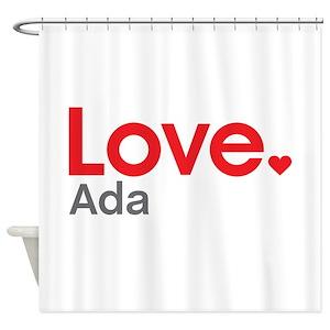 Love Ada Shower Curtains