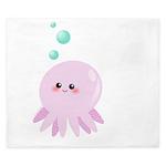 Cute pink octopus King Duvet