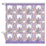 Cute Purple Kitties Design Shower Curtain