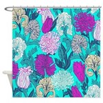 Colorful Iris Flowers Shower Curtain