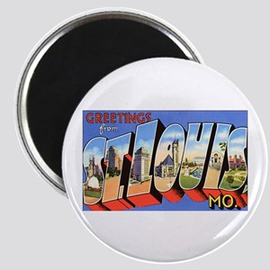 St Louis Missouri Greetings Magnet