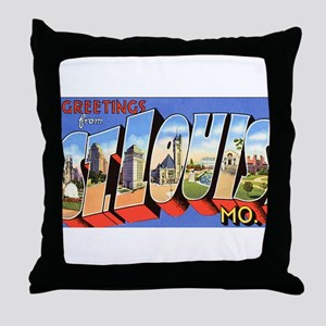 St Louis Missouri Greetings Throw Pillow