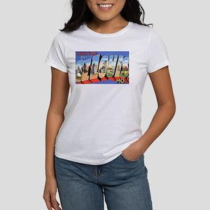 St Louis Missouri Greetings (Front) Women's T-Shir