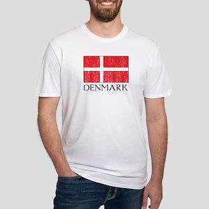 Denmark Flag Fitted T-Shirt