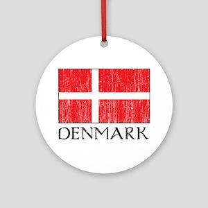 Denmark Flag Ornament (Round)
