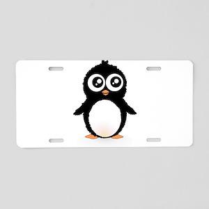 Cute penguin Aluminum License Plate