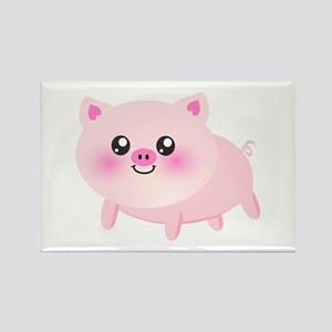 cute pig Rectangle Magnet