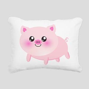 cute pig Rectangular Canvas Pillow