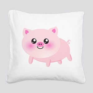 cute pig Square Canvas Pillow