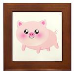 cute pig Framed Tile
