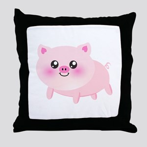cute pig Throw Pillow