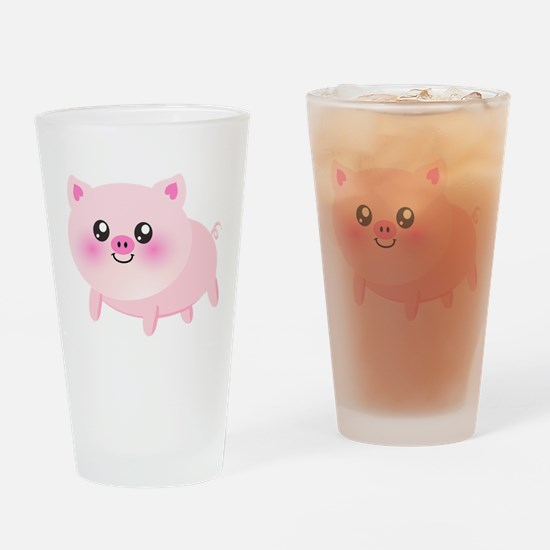 cute pig Drinking Glass