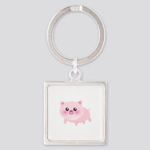 cute pig Square Keychain